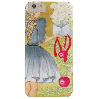 Capa Barely There Para iPhone 6 Plus Mágica do Natal - louro que decora uma árvore
