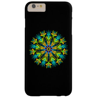 Capa Barely There Para iPhone 6 Plus Mandala de néon Feathery
