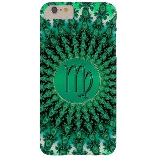 Capa Barely There Para iPhone 6 Plus Mandala verde do Fractal do Virgo do sinal do