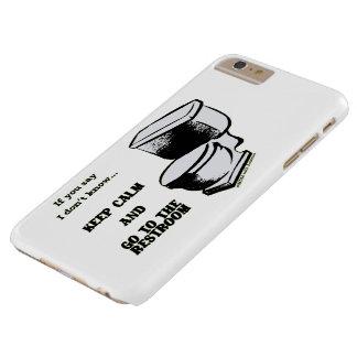 Capa Barely There Para iPhone 6 Plus Mantenha a calma e vá aos exemplos do local de