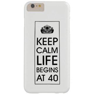 Capa Barely There Para iPhone 6 Plus Mantenha a vida calma começa em 40