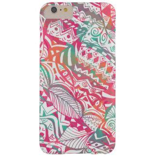 Capa Barely There Para iPhone 6 Plus mão feminino teste padrão floral tribal