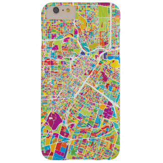 Capa Barely There Para iPhone 6 Plus Mapa de néon de Houston, Texas |