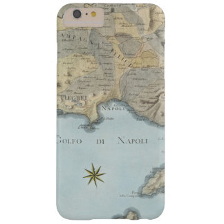 Capa Barely There Para iPhone 6 Plus Mapa do golfo de Nápoles e de arredores