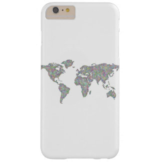 Capa Barely There Para iPhone 6 Plus Mapa do mundo