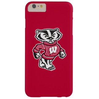 Capa Barely There Para iPhone 6 Plus Mascote Bucky do texugo de Wisconsin |