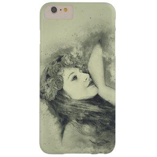 Capa Barely There Para iPhone 6 Plus Menina de sonho com os rosas para o iPhone 6/6s