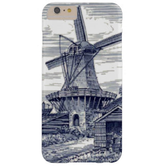 Capa Barely There Para iPhone 6 Plus Moinho de vento holandês azul antigo azul escuro