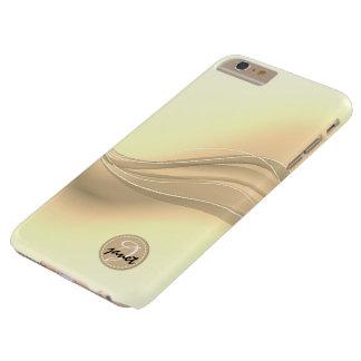 Capa Barely There Para iPhone 6 Plus Monograma moderno das ondas do caramelo leitoso