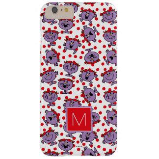 Capa Barely There Para iPhone 6 Plus Monograma vermelho pequeno do teste padrão de