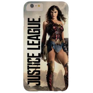 Capa Barely There Para iPhone 6 Plus Mulher maravilha da liga de justiça | no campo de