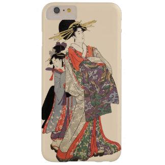 Capa Barely There Para iPhone 6 Plus Mulher no quimono colorido (impressão do japonês