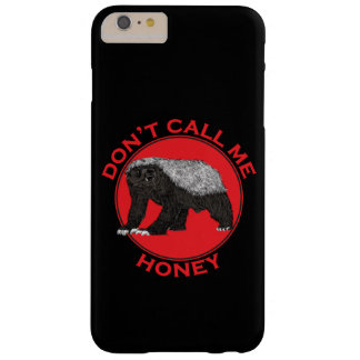 Capa Barely There Para iPhone 6 Plus Não me chame mel, arte feminista vermelha do