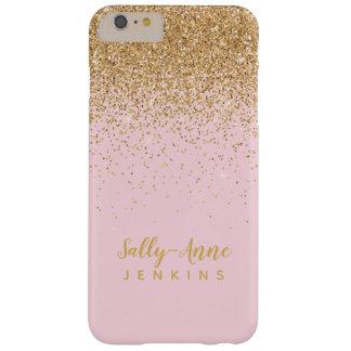 Capa Barely There Para iPhone 6 Plus O brilho glamoroso elegante LUXE do ouro cora rosa