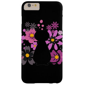 Capa Barely There Para iPhone 6 Plus O gato no rosa floresce IPhone 6+Caso de /6S mal