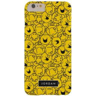 Capa Barely There Para iPhone 6 Plus O grupo do teste padrão amarelo | dos sorrisos
