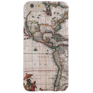 Capa Barely There Para iPhone 6 Plus O mapa de Visscher do mundo novo