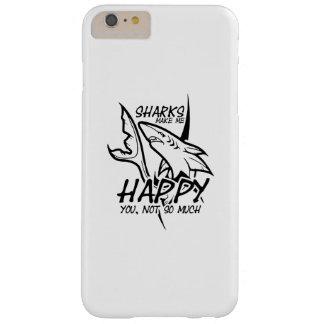 Capa Barely There Para iPhone 6 Plus Os tubarões fazem-me engraçado feliz