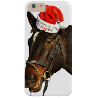 Capa Barely There Para iPhone 6 Plus Papai noel do cavalo - cavalo do Natal - Feliz