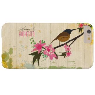 Capa Barely There Para iPhone 6 Plus Pássaro em um ramo floral