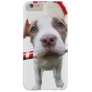 Capa Barely There Para iPhone 6 Plus Pitbull do Natal - pitbull do papai noel - cão de