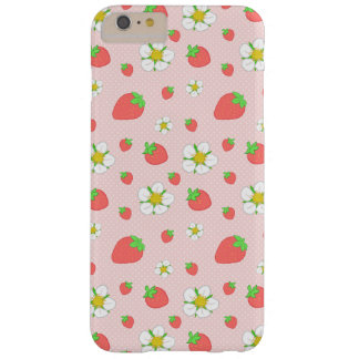 Capa Barely There Para iPhone 6 Plus Pontos da morango no rosa
