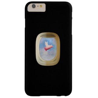 Capa Barely There Para iPhone 6 Plus Porco do vôo através da janela do avião
