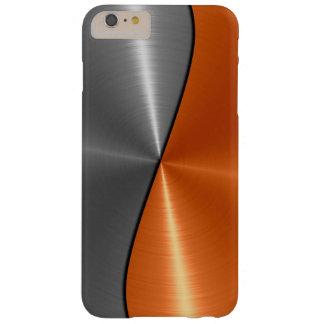 Capa Barely There Para iPhone 6 Plus Prata e metal de aço inoxidável alaranjado