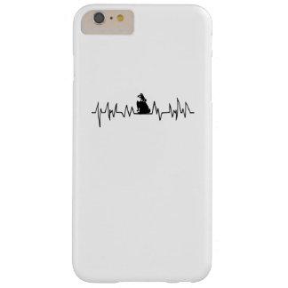 Capa Barely There Para iPhone 6 Plus Presente do Pug da pulsação do coração para o