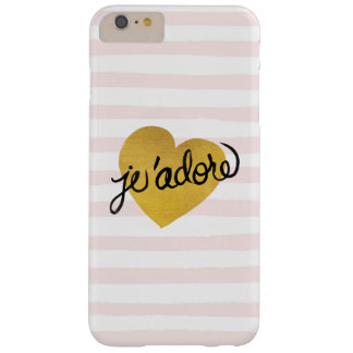 Capa Barely There Para iPhone 6 Plus Preto das citações | de J'adore & coração do ouro