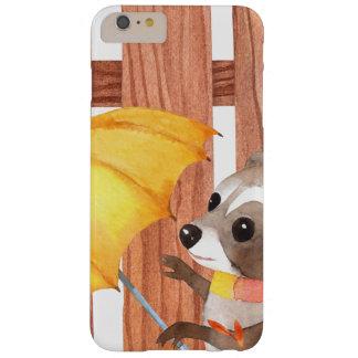 Capa Barely There Para iPhone 6 Plus racoon com guarda-chuva que anda pela cerca