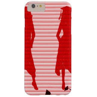 Capa Barely There Para iPhone 6 Plus Redemoinho listrado vermelho das meninas do