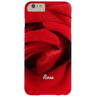 Capa Barely There Para iPhone 6 Plus Rosa vermelha personalizada