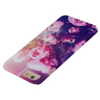 Capa Barely There Para iPhone 6 Plus Rosas cor-de-rosa com a caixa azul do iphone 6 do