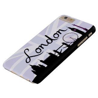Capa Barely There Para iPhone 6 Plus Roteiro de Londres no céu de Union Jack & locais