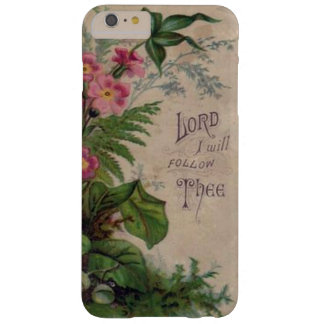 Capa Barely There Para iPhone 6 Plus Senhor floral Eu Seguimento Thee da oração do