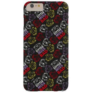 Capa Barely There Para iPhone 6 Plus Senhorita pequena Mau teste padrão preto, vermelho