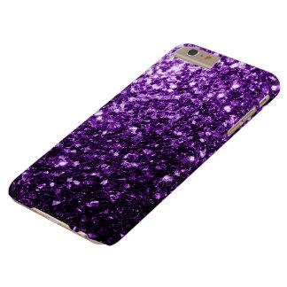 Capa Barely There Para iPhone 6 Plus Sparkles roxos escuros bonitos do brilho