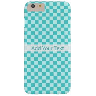 Capa Barely There Para iPhone 6 Plus Tabuleiro de damas clássico da combinação azul por