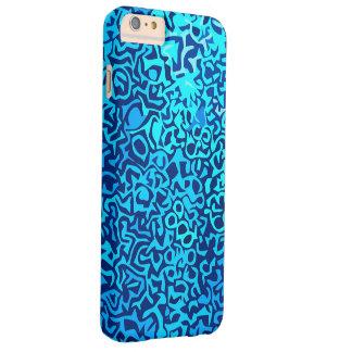 Capa Barely There Para iPhone 6 Plus Teste padrão azul do fractal