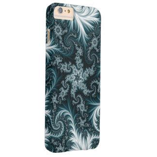 Capa Barely There Para iPhone 6 Plus Teste padrão ciano e branco do fractal