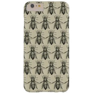 Capa Barely There Para iPhone 6 Plus Teste padrão da abelha do Victorian do vintage