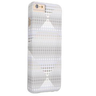 Capa Barely There Para iPhone 6 Plus Teste padrão de bolinhas de prata do falso à moda