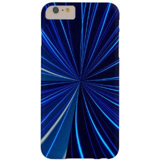 Capa Barely There Para iPhone 6 Plus teste padrão do azul do cobrir do telefone do