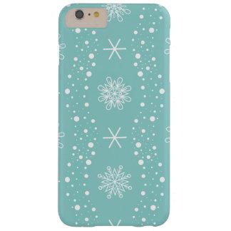 Capa Barely There Para iPhone 6 Plus Teste padrão engraçado dos flocos de neve de