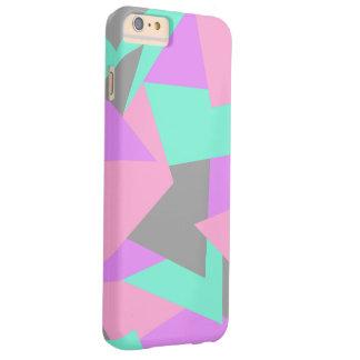 Capa Barely There Para iPhone 6 Plus teste padrão geométrico colorido do bloco elegante