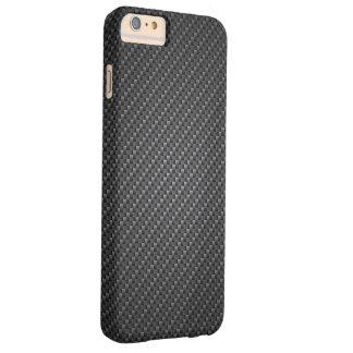 Capa Barely There Para iPhone 6 Plus Textura clássica da fibra da grafite