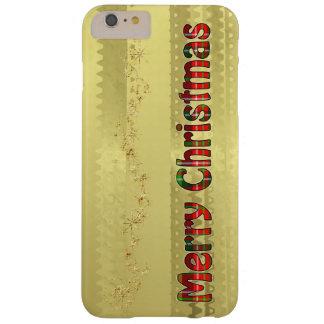 Capa Barely There Para iPhone 6 Plus Tipografia do Tartan do Feliz Natal - folha de
