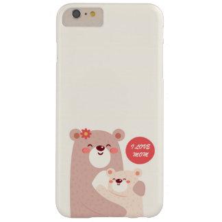 Capa Barely There Para iPhone 6 Plus Ursos da mamã e do miúdo - mamã do amor de I