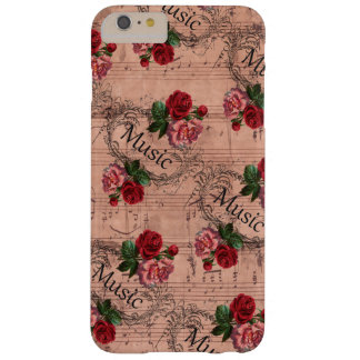 Capa Barely There Para iPhone 6 Plus Vintage floral para o amor da música